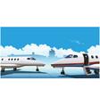 modern business jets vector image vector image