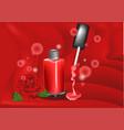 nail polish and rose vector image