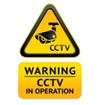 Notice Video Surveillance symbol vector image vector image