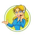 Receptionist Girl vector image