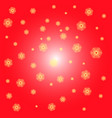 red christmas background with yellow snowflakes on vector image vector image