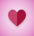 Red heart on pink background vector image