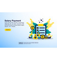 salary payment concept with icon and character vector image vector image