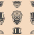 seamless pattern with sugar skulls design element vector image