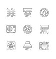 set line icons ventilation vector image