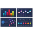 set of 6 options infographic designs vector image vector image