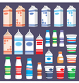 Set of dairy products vector image vector image