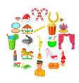 state icons set cartoon style vector image vector image