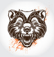 tattoo bear vector image vector image