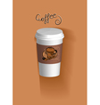 to go coffee cup vector image