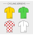 Types of cycling jerseys vector image vector image