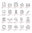 universal software icon set vector image