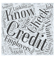 Work Related Credit Checks How to Handle Them If vector image vector image