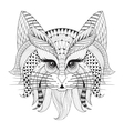 Zentangle Hand drawn Cat face for adult antistress vector image vector image