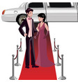 man and woman on a red carpet vector image