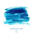 turquoise blue indigo watercolor texture vector image