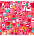 Valentines Day Pink Seamless Pattern vector image