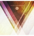 abstract background with colorful triangles vector image