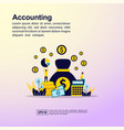 accounting concept with character template for vector image vector image