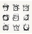 alarm clock black icons vector image