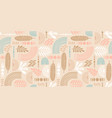 artistic seamless pattern with abstract leaves and vector image vector image