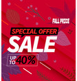 autumn sale special offer up to forfy percent vector image vector image