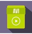 avi file icon flat style vector image