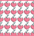 beauty heart plant with leaves design background vector image vector image