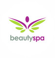 Beauty spa wing logo vector image