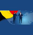 belgium international partnership diplomacy vector image vector image
