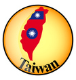 button Taiwan vector image
