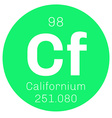 Californium chemical element vector image vector image