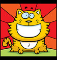 cat smiling vector image vector image