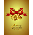 Christmas Card with Bells vector image vector image