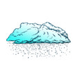 cloud with falling snowflakes color vector image vector image