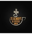 coffee cup concept design background vector image vector image