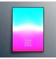 colorful gradient texture poster design vector image vector image