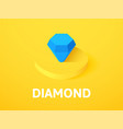 diamond isometric icon isolated on color vector image vector image