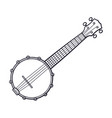 doodle classic country music banjo vector image