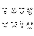 emoticon hand drawn abstract face emotions vector image vector image
