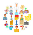 employ icons set cartoon style vector image vector image