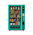 full vending machine with fast food snacks and vector image vector image