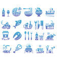 gradient set of flat icons and elements vector image vector image