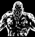 grim zombie attack grim zombie vector image vector image