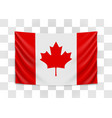 hanging flag canada canada national flag vector image vector image