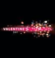happy valentine day romantic creative banner vector image vector image