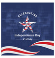 independence day background and badge logo with vector image vector image