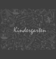 kindergarten piece of chalk line art design vector image vector image