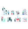 laboratory scientist science research clinic vector image