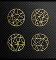 logo design geometric round gold logo vector image vector image